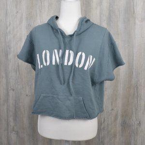 Grayson Threads Cropped Hoodie Sweatshirt Large